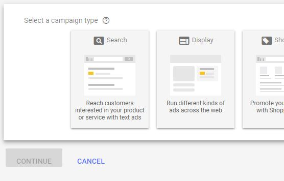 New AdWords Campaign Setup